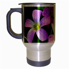 Little Purple Flowers 2 Travel Mug (silver Gray) by timelessartoncanvas