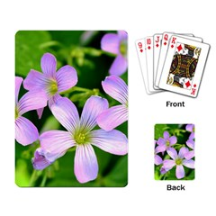 Little Purple Flowers 2 Playing Card by timelessartoncanvas
