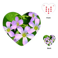 Little Purple Flowers 2 Playing Cards (heart)  by timelessartoncanvas