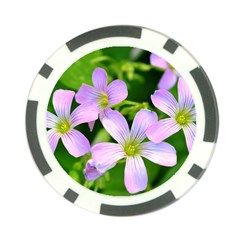 Little Purple Flowers 2 Poker Chip Card Guards by timelessartoncanvas