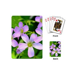 Little Purple Flowers 2 Playing Cards (mini)  by timelessartoncanvas