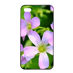 Little Purple Flowers 2 Apple Iphone 4/4s Seamless Case (black) by timelessartoncanvas