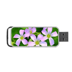 Little Purple Flowers 2 Portable Usb Flash (one Side) by timelessartoncanvas