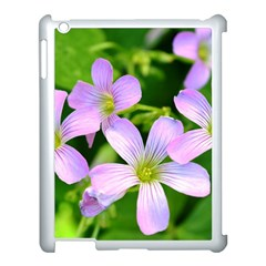Little Purple Flowers 2 Apple Ipad 3/4 Case (white) by timelessartoncanvas