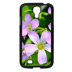 Little Purple Flowers 2 Samsung Galaxy S4 I9500/ I9505 Case (black) by timelessartoncanvas