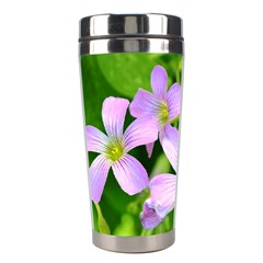 Little Purple Flowers 2 Stainless Steel Travel Tumblers by timelessartoncanvas