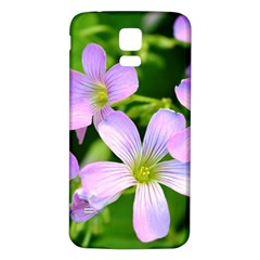 Little Purple Flowers 2 Samsung Galaxy S5 Back Case (white) by timelessartoncanvas