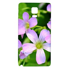 Little Purple Flowers 2 Galaxy Note 4 Back Case by timelessartoncanvas