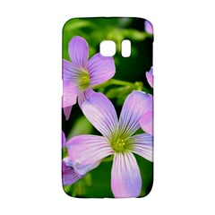 Little Purple Flowers 2 Galaxy S6 Edge by timelessartoncanvas