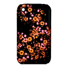 Little Peach And Pink Flowers Apple Iphone 3g/3gs Hardshell Case (pc+silicone) by timelessartoncanvas