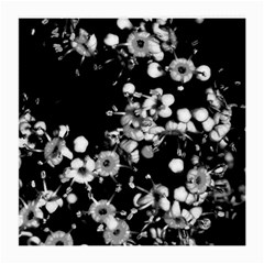 Little Black And White Flowers Medium Glasses Cloth by timelessartoncanvas