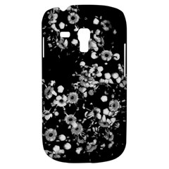 Little Black And White Flowers Samsung Galaxy S3 Mini I8190 Hardshell Case by timelessartoncanvas
