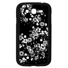 Little Black And White Flowers Samsung Galaxy Grand Duos I9082 Case (black) by timelessartoncanvas