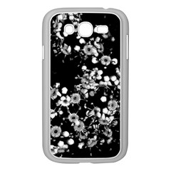 Little Black And White Flowers Samsung Galaxy Grand Duos I9082 Case (white) by timelessartoncanvas