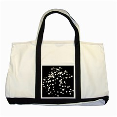 Little Black And White Dots Two Tone Tote Bag by timelessartoncanvas