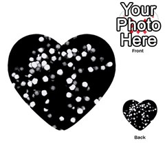 Little Black And White Dots Multi Purpose Cards (heart)  by timelessartoncanvas