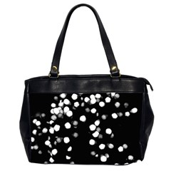Little Black And White Dots Office Handbags (2 Sides)  by timelessartoncanvas
