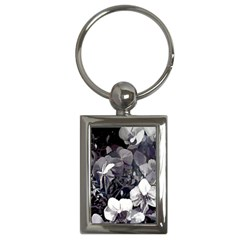 High Contrast Black/white Orchid Charm (rectangle)