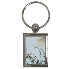 Powder Blue Poppies Charm(rectangle)