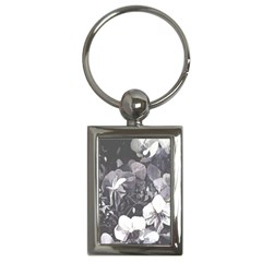 Gray Tone Black White Orchid Trim Charm (rectangle)