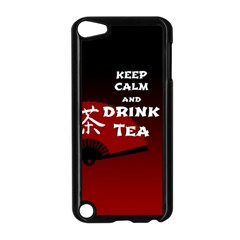 Keep Calm And Drink Tea   Dark Asia Edition Apple Ipod Touch 5 Case (black)