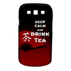 Keep Calm And Drink Tea   Dark Asia Edition Samsung Galaxy S Iii Classic Hardshell Case (pc+silicone)