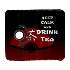 Keep Calm And Drink Tea   Dark Asia Edition Samsung Galaxy S  Iii Flip 360 Case by RespawnLARPer