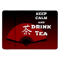 Keep Calm And Drink Tea   Dark Asia Edition Samsung Galaxy Tab 8 9  P7300 Flip Case