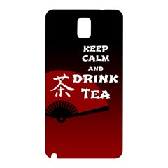 Keep Calm And Drink Tea   Dark Asia Edition Samsung Galaxy Note 3 N9005 Hardshell Back Case