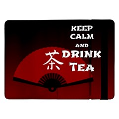 Keep Calm And Drink Tea - Dark Asia Edition Samsung Galaxy Tab Pro 12 2  Flip Case