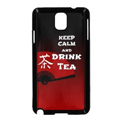 Keep Calm And Drink Tea   Dark Asia Edition Samsung Galaxy Note 3 Neo Hardshell Case (black)
