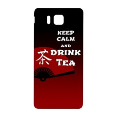 Keep Calm And Drink Tea   Dark Asia Edition Samsung Galaxy Alpha Hardshell Back Case