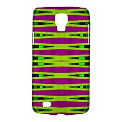 Bright Green Pink Geometric Galaxy S4 Active