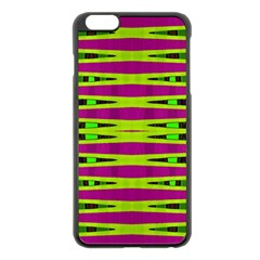 Bright Green Pink Geometric Apple Iphone 6 Plus/6s Plus Black Enamel Case by BrightVibesDesign