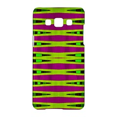 Bright Green Pink Geometric Samsung Galaxy A5 Hardshell Case  by BrightVibesDesign