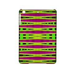 Bright Green Pink Geometric Ipad Mini 2 Hardshell Cases by BrightVibesDesign