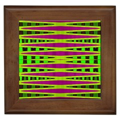Bright Green Pink Geometric Framed Tiles