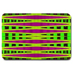 Bright Green Pink Geometric Large Doormat