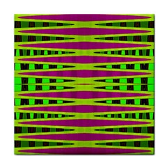 Bright Green Pink Geometric Face Towel