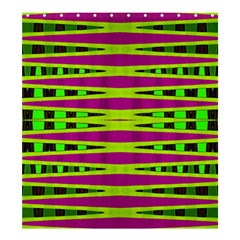 Bright Green Pink Geometric Shower Curtain 66  X 72  (large)