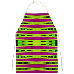 Bright Green Pink Geometric Full Print Aprons by BrightVibesDesign