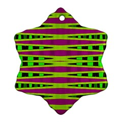 Bright Green Pink Geometric Ornament (snowflake)