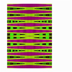 Bright Green Pink Geometric Small Garden Flag (two Sides)