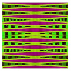 Bright Green Pink Geometric Large Satin Scarf (square)