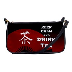 Keep Calm And Drink Tea   Dark Asia Edition Shoulder Clutch Bags