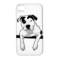 Pit Bull T Bone Graphic  Apple Iphone 4/4s Hardshell Case With Stand by ButThePitBull