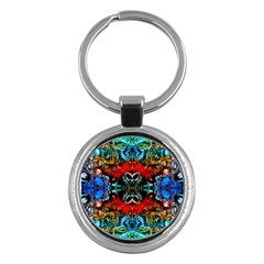 Colorful  Underwater Plants Pattern Key Chains (round)  by Costasonlineshop