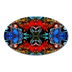 Colorful  Underwater Plants Pattern Oval Magnet by Costasonlineshop