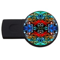 Colorful  Underwater Plants Pattern Usb Flash Drive Round (4 Gb)  by Costasonlineshop