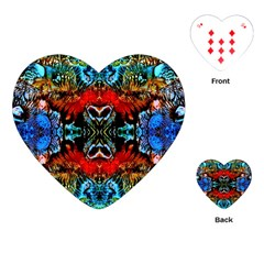 Colorful  Underwater Plants Pattern Playing Cards (heart)  by Costasonlineshop